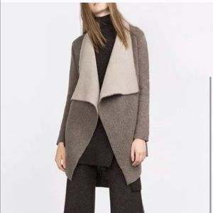 Zara Knit Sweater Cardigan Two Tone size small